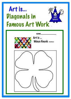 Art Elements - Diagonal Lines in Famous Art (8 pages) Agam, Britto, Peter Max
