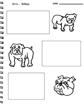 Art Science  ... Drawing Dogs - Chihuahuas, Pit Bulls & Bulldogs -  ( 7 pages)