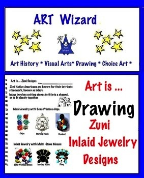 Art is ... Drawing Zuni Inlaid Jewelry Designs (5 Printables)
