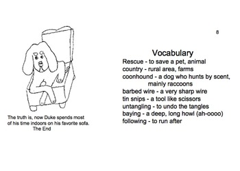 "Art ... Free ""Duke's Rescue,"" True Dog Story-Make Booklet, Read & Color (8 pg)"