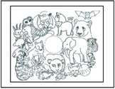Art Science ... Endangered Animals Coloring Page (1 printable) Earth Day