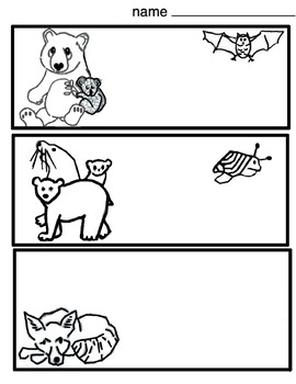 Endangered Animals Coloring (4 printables) Art Lesson