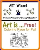 Coloring - Pumpkin Fall Festival Art Lesson
