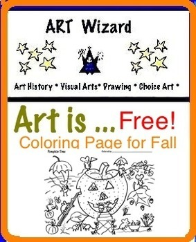 Art ... FREE! Pumpkin Time Coloring Page - Art