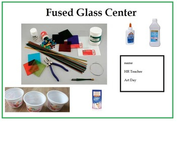 Fused Glass Art Center (Sign, Vocabulary & Procedure) 4 Pages