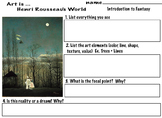 Henri Rousseau Fantasy World  (7 pages) A Carnival Evening, Art Lesson