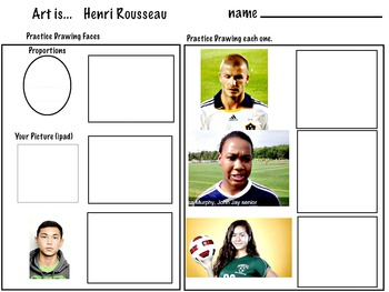 Henri Rousseau's Fantasy World - (7 pages) The Football Players, Art Lesson