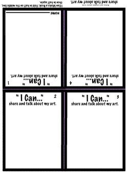 """I Can"" Create- 6 Art Booklets- National Core Art Standards Pk-K"