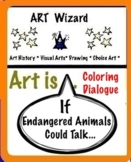 If Endangered Animals Could Talk (Coloring, Conversation) 6 pg, Art Science