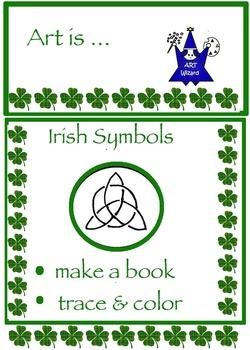 Art Symbols ... Irish Symbols: Mini Book, Celtic Coloring & Alphabet (4 pages)