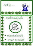 Art Symbols ... Irish Symbols: Mini Book, Celtic Coloring & Alphabet (4 pages)