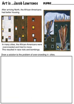 Jacob Lawrence's African-American Migration Series (6 Pages) Art Artist
