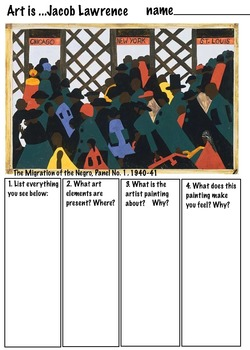 Jacob Lawrence's African-American Migration Series (6 Page