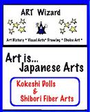 Japanese Arts - Kokeshi Dolls & Shibori Fiber Arts (8 pages), Art Lesson