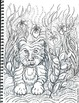 Art Science ... Jungle Animals Coloring Pages (7 Original Drawings)