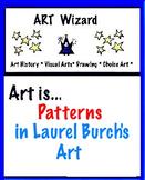Art Patterns,  Laurel Burch  (2 Printable Worksheets) Art Artist