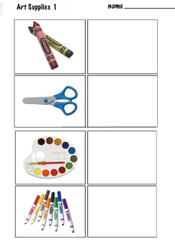 Art ... FREE! Learn to Draw Everyday Art Supplies on the Table (6 pages)
