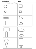 Draw Everyday Art Supplies with Shapes (6 pages)