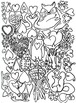 Art is ... Line Art Coloring Book (6 pages) Zoo, Cars, Hearts & More
