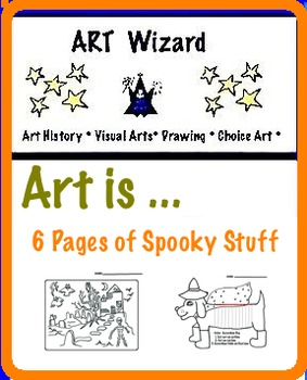 Art ...6 Pages full of Halloween Creative Activities for Art Coloring, Drawing