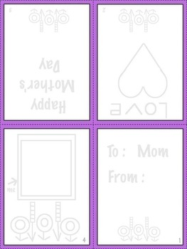 Art ... FREE!  Making Mother's Day & Father's Day Holiday Cards - PreK, K, ELL