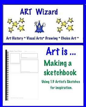 Art Making an Art Sketchbook Using 13 Artists' Sketches as Inspiration