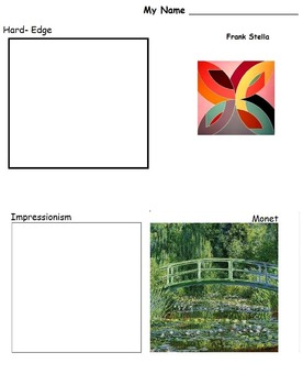 Art is ... Modern Art Styles Drawing/Painting (9 Printable Pages)