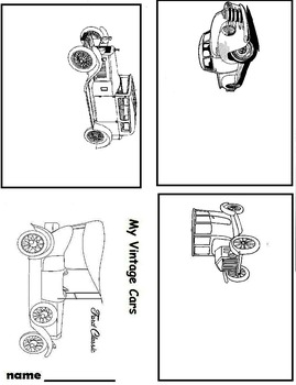 Art is ... Drawing Cars Mini-Books (2 printable pages)