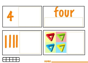 Count 1-20  with Artwork/Geometric Shapes,Posters/Worksheets (21 pages) Art