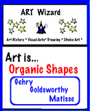 Art Elements -  Organic Shapes: Gehry, Goldsworthy, Matisse (5 pgs), Art Lesson
