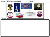 Art Symbols ... Patriotic Symbols & Architecture (2 printable pages) Art Class