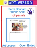 Pierre Bonnard (3 Printable Pages & 1 Oil Pastel Techniques) Art Artist