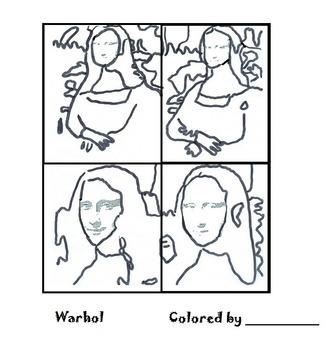 Pop Art Coloring Pages & Originals (18 Printables) Art Class by ...