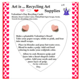 Art is ... Recycling Art Supplies (Recycled Seed Heart Project & 3 Pages Tips)