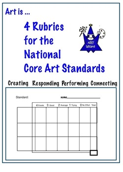 Art is ... Rubrics for use with National Core Art Standards (5 pages)