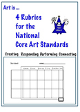 Rubrics for use with National Core Art Standards (5 pages)