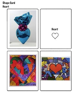 Art Elements - 2D Shape Matching Cards with Famous Artwork (11 pages) ELL/ESL