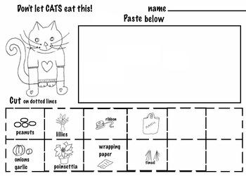 Art ... Free! Got a Pet? Don't let them eat this!  (3 pg, Color- Cut-Paste)