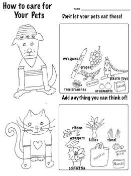 Free! Got a Pet? Don't let them eat this!  (3 pg, Color- Cut-Paste)