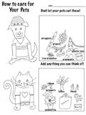 Got a Pet? Don't let them eat this!  (3 pg, Color- Cut-Paste)