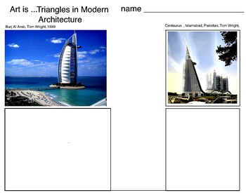 Art Elements - Triangles in Modern Architecture (13 Printable Pages)