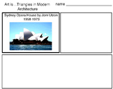 Art Elements - Triangles in Modern Architecture (13 Printable Pages), Art Lesson