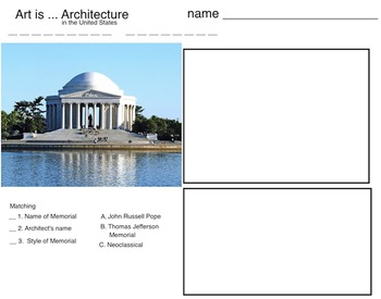 Art is ... US Patriotic Architecture (6 printable pages)