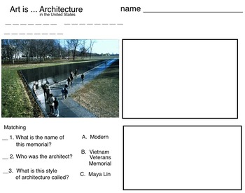 US Patriotic Architecture (6 printable pages)