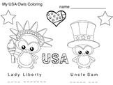 Art Symbols ... USA Patriotic Symbols Mini Book & Coloring (3 pages) Esl