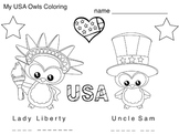 Art Symbols ... USA Patriotic Symbols Mini Book & Coloring (3 pages) Esl