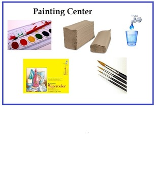 Watercolor Art Center (Sign, Vocabulary & Procedure) 4 Pages