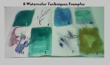 Art ... Free! Techniques for Watercolor  (3 Printable Pages)