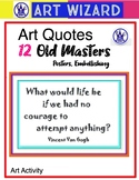 Art Quotes, Old Masters, Posters,Famous Artist, Decorate, Creativity