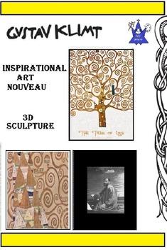 Gustav Klimt Art Nouveau Tree (5 printable pages) Art Artist